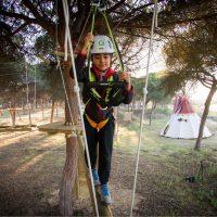 Parque de árboles Actividades para colegios en camping Isla Cristina, Huelva