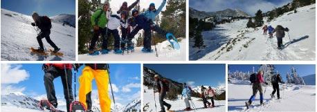 Excursión con raquetas de nieve. Turismo activo y cultural en Granada.